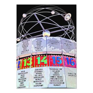World Time Clock,Alexanderplatz,Berlin,Black Back Card