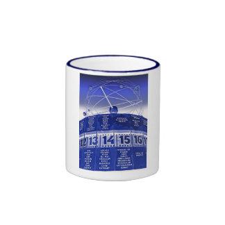 World Time Clock,Alexanderplatz,Berlin,in Blue Ringer Coffee Mug