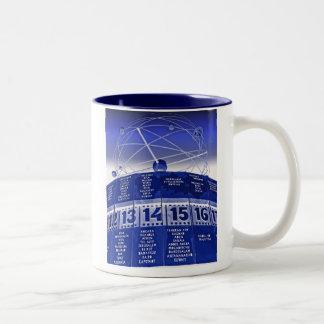 World Time Clock,Alexanderplatz,Berlin,in Blue Two-Tone Coffee Mug