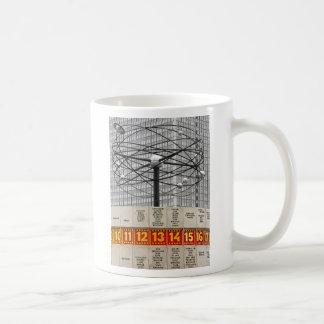 World Time Clock,Alexanderplatz,Berlin,Part B&W Classic White Coffee Mug