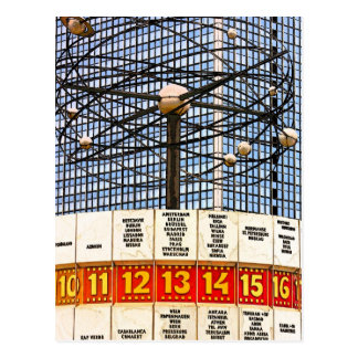 World Time Clock, Alexanderplatz, Berlin, Saturate Postcard