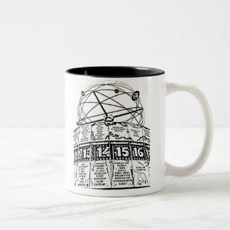 World Time Clock,Alexanderplatz,Berlin,Sketch(1) Two-Tone Coffee Mug