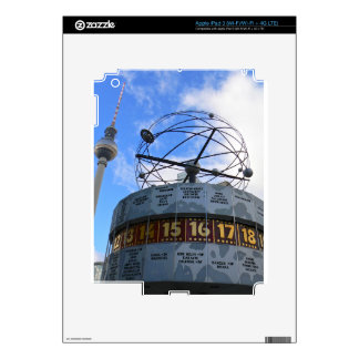 World Time Clock with Berlin TV Tower, Alex Decals For iPad 3