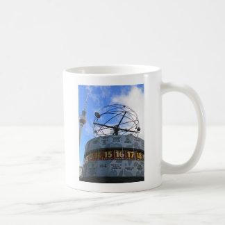 World Time Clock with Berlin TV Tower, Alex Classic White Coffee Mug