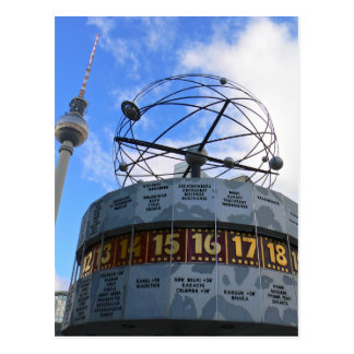 World Time Clock with Berlin TV Tower, Alex Postcard
