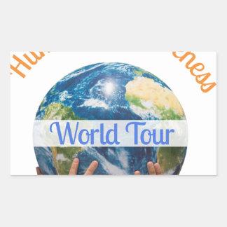 World Tour Rectangular Sticker