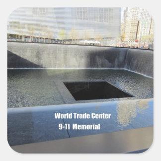 World Trade Center, 9/11 monumento Pegatina Cuadrada
