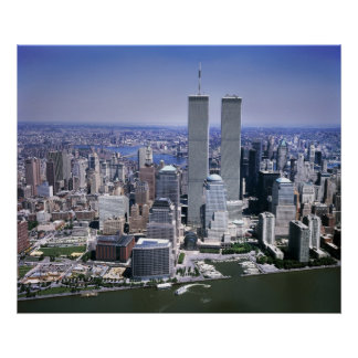 World Trade Center and NYC skyline Poster