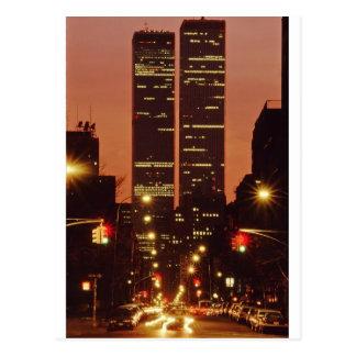 World Trade Center At Dusk Postcard