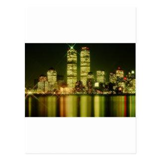 world trade center at night.jpg postcard