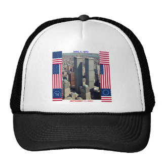 World Trade Center Complex and U.S. Flags Mesh Hats
