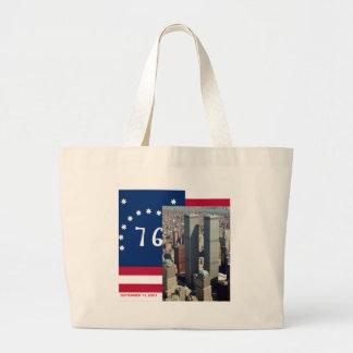 World Trade Center Complex Lower Manhattan 8/2001 Large Tote Bag
