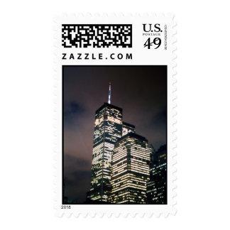 World Trade Center de la noche Franqueo