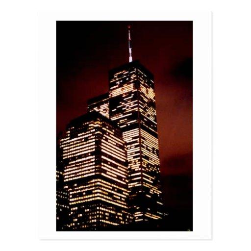 World Trade Center en la noche Tarjetas Postales