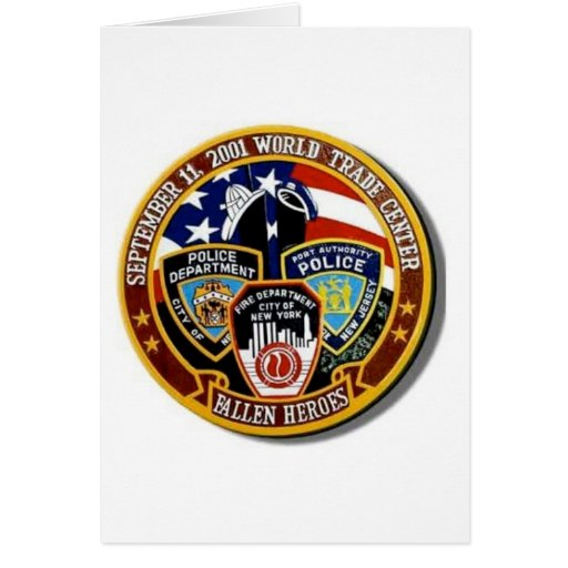 WORLD TRADE CENTER FALLEN HEROS CARD