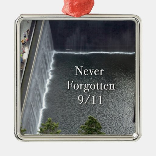 World Trade Center New York City Adorno Navideño Cuadrado De Metal