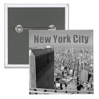 World Trade Center NYC de las torres gemelas Pin Cuadrada 5 Cm