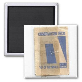 World Trade Center Observation deck 2 Inch Square Magnet