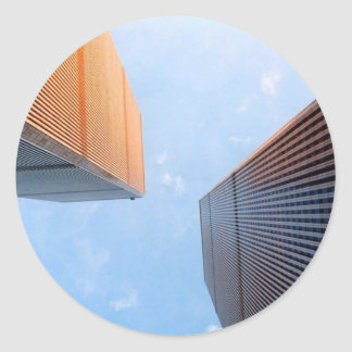 World Trade Center Pegatina Redonda