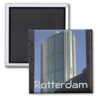 World Trade Center Rotterdam 2 Inch Square Magnet