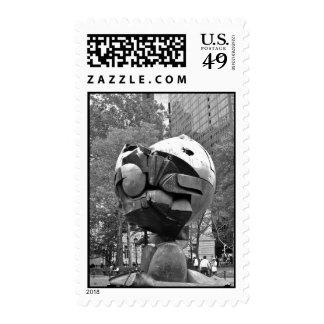 World Trade Center Surviving Sculpture Postage Stamp