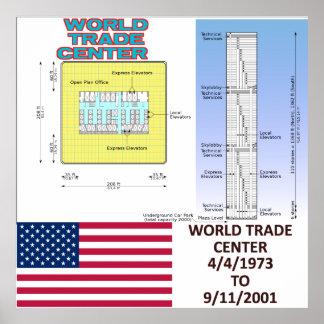 World Trade Center Tower Floor Plan Canvas Print 3