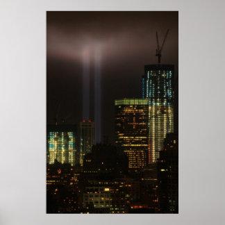 World Trade Center Tribute In Light 2011 #01 Poster