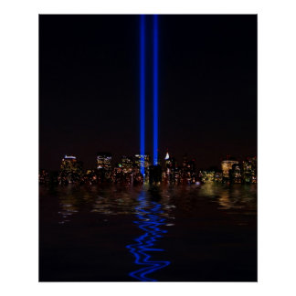 World Trade Center Tribute in Light at Night Posters