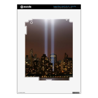 World trade center tribute in light in New York. iPad 3 Decal