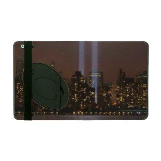 World trade center tribute in light in New York. iPad Case