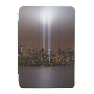 World trade center tribute in light in New York. iPad Mini Cover