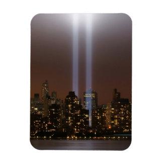 World trade center tribute in light in New York. Magnet