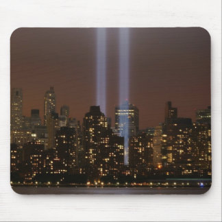World trade center tribute in light in New York. Mouse Pad