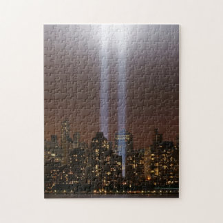 World trade center tribute in light in New York. Puzzle