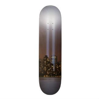 World trade center tribute in light in New York. Skateboard Deck