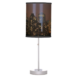 World trade center tribute in light in New York. Table Lamp