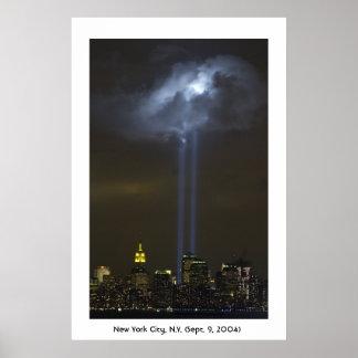World Trade Center Tribute Light Poster