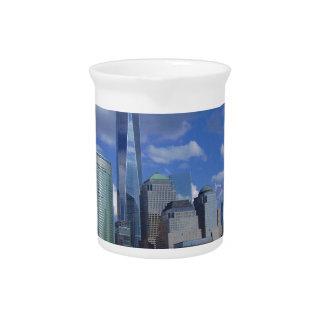 World Trade Center WTC el río Hudson de Manhattan Jarras De Beber