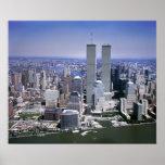 World Trade Center y horizonte de NYC Póster