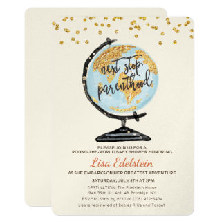 World Travel Baby Shower Invitation