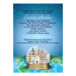 World Travel Bar Bat Mitzvah Snow Globe Invitations