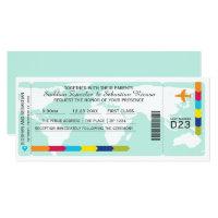 World Travel Boarding Pass Wedding Ticket Card (<em>$2.57</em>)