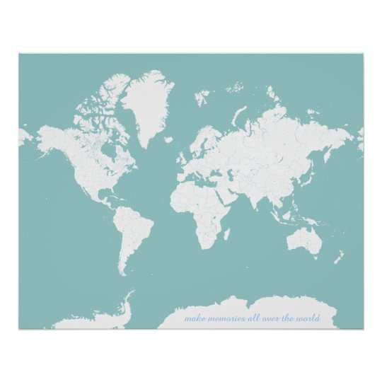 Color Your Own World Map.World Travel Map Customizable Background Color Poster Zazzle Com