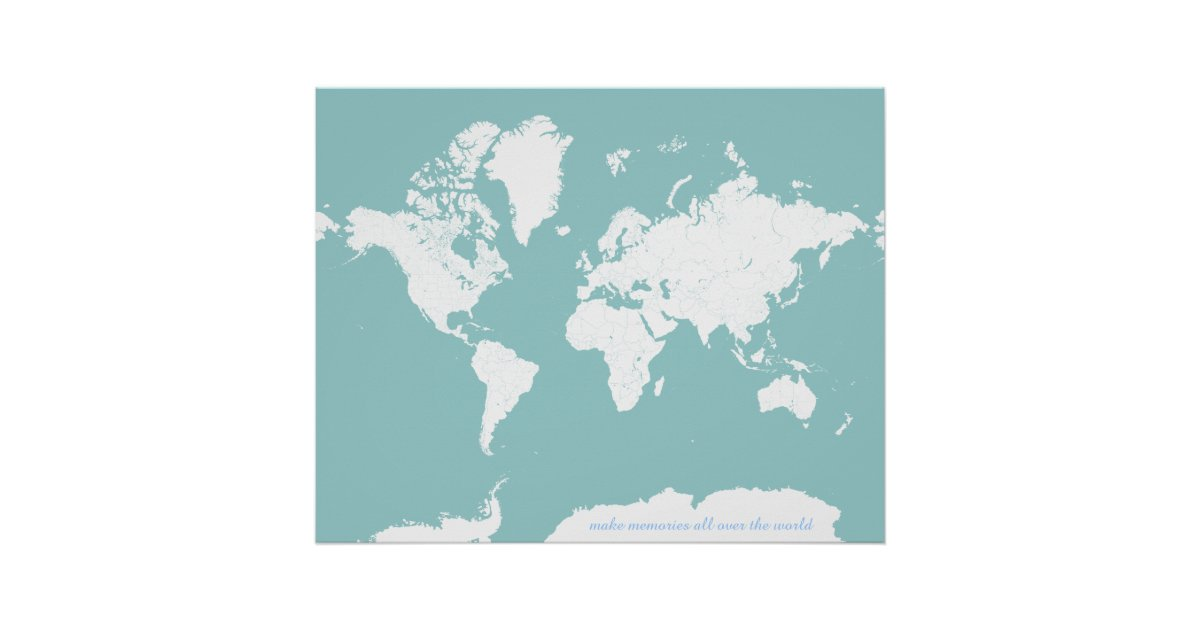World travel map customizable background color poster zazzle gumiabroncs