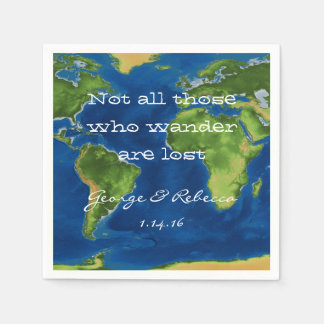 World Travel Party Napkins