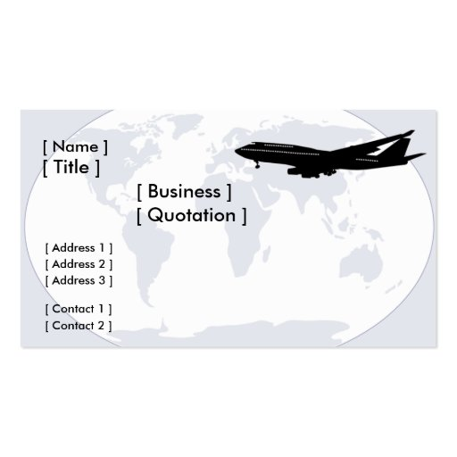 World Travel/Transportation Business Card