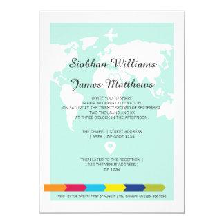 World Travel Wedding Card