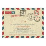 World Traveler Airmail | Bridal Shower 5x7 Paper Invitation Card