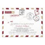 World Traveler Airmail | Bridal Shower Card
