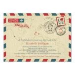 World Traveler Airmail   Bridal Shower 5x7 Paper Invitation Card